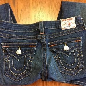 True Religion Twisted Seam Joey Flare Jeans